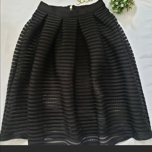 Miss Avenue A-Line Mid length black skirt